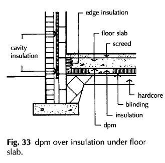 dpm under insulation and screed